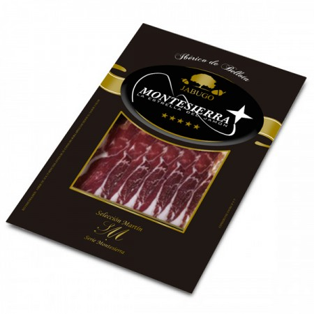 Sliced acorn fed ham 50% or 75% iberian