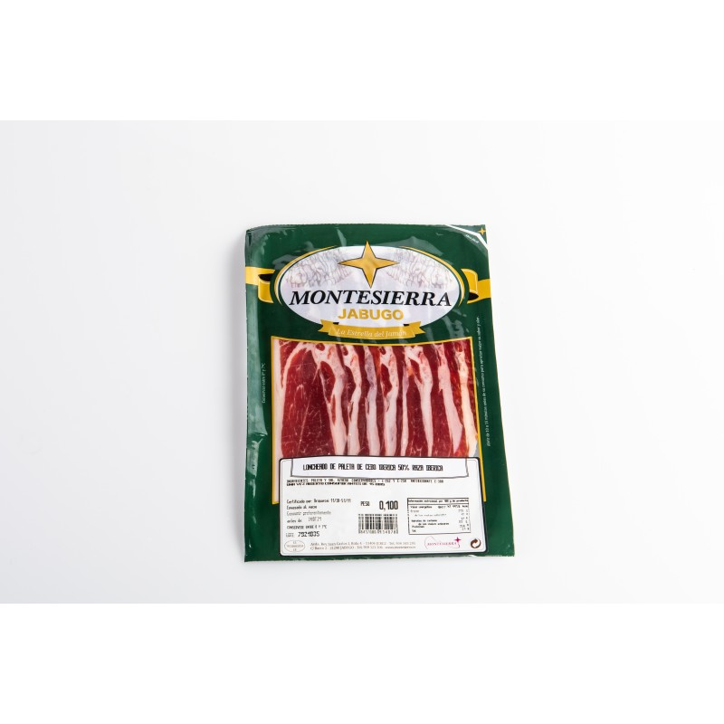 Sliced Iberian shoulder of fodder fed ham 50%